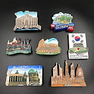 SparkLiay 1Pc Italy Berlin Trevi Fountain Tourist Souvenirs Fridge Magnet (Color : Dubai)