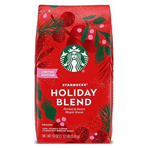 Starbucks Medium Roast Ground Coffee — Starbucks Holiday Blend — 100% Arabica — 1 bag (18 oz)