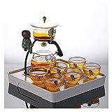 Set di 9/10 Set di Semi-automatico Set di tè in vetro pigro Reception ufficio Kung Fu Set da tazza da tè Set di tè Brewing Set di tè (Size : G)