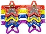 amscan- Assorted Star Glasses Party Favor-4 PCS. Bicchieri Assortiti a Forma di Stella per Feste, 4 Pezzi, 9902025