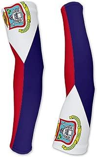 Saint Martin Flag Compression Arm Sleeves UV Protection Unisex - Walking - Cycling - Running - Golf - Baseball - Basketball