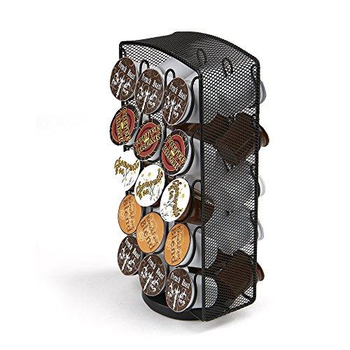 Mind Reader CRSMESHBLK MerryGoRound Storage 30 Capacity Black