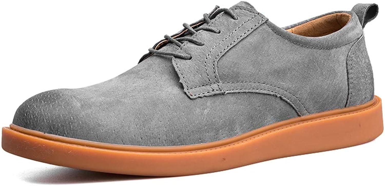 Herrenmode Oxford Lässige Lässige Lässige Komfortable Einfache Retro Abwischen Farbe Runde Zehe Formale Schuhe,Grille Schuhe (Farbe   Grau, Größe   39 EU)  38cb14