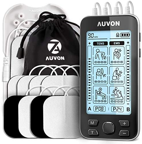 AUVON 4 Outputs TENS Unit EMS Muscle Stimulator Machine for Pain Relief Therapy with 24 Modes product image