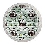 Panda Butterfly - Tiradores y pomos de bambú para gabinetes de gabinete de cristal y tiradores de cajón de 3 cm para el hogar, oficina, dormitorio, sala de estar y baño con tornillos