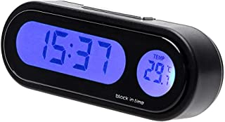Thermometer Digital LCD Display EastVita Car Air Vent Clip Stick On Electronic Clock