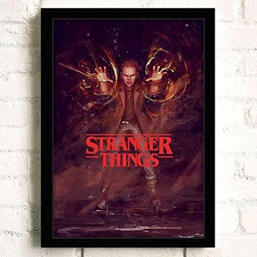 Poster foto afdrukken foto kunstwerk Memorabilia vreemdeling dingen muur kunst foto schaats tv-show serie 42 * 30 cm