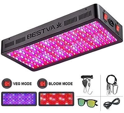 BESTVA TC Series 2000W LED Grow Light Full Spectrum Grow Lamp for Greenhouse Hydroponic Indoor Plants Veg and Flower Triple-Chips LED Grow Lamp