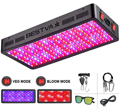 BESTVA TC Series 2000W LED Grow Light Full Spectrum Grow Lamp for Greenhouse Hydroponic Indoor Plants Veg and Flower Triple-Chips LED Grow Lamp