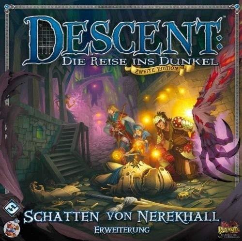 Asmodee HEI0617 - Descent 2. Edition - Schatten von Nerekhall, Erweiterung, Brettspiel