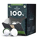 My Coffee Cup Mega Box Cápsulas de Café Single Origin Ethiopia Orgánico - Granos con Sabor y Aroma - Compatible con Máquina Nespresso®³ - Cápsulas Compostables Industrialmente sin Aluminio - Pack 100