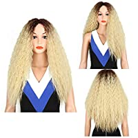 XinQuan Wang アフリカの小さなボリュームの長い髪のかつらかつらヨーロッパやアメリカのミスガオWensiグラデーションカラー (Color : As shown)