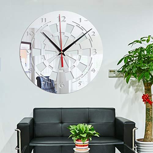Zhong Dart Target Home Decoration Spiegel Wohnzimmer Schlafzimmer Acryl Spiegel Wandaufkleber Wanduhr 28 * 28 cm