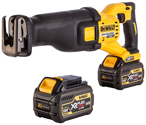 DEWALT DCS388T2-GB TL18913 XR Kitted Reciprocating Saw, 18 W, 54 V, Yellow Black, Large, Set of 5 Pieces
