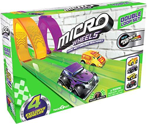 Micro Wheels Double Loop Pack, Mini Juego de Coche de Carreras para niños a Partir de 4 años, Multicolor (Vivid Toy Group HS78698)