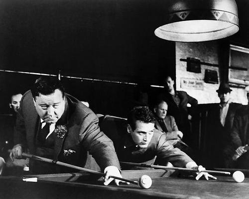 Paul Newman & Jackie Gleason The Hustler Shooting Pool 11x14 HD Aluminum Wall Art