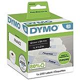 DYMO LW etiquetas auténticas para carpetas colgantes   12mmנ50mm   rollo de 220etiquetas con reverso fácil de retirar   autoadhesivas   para etiquetadoras LabelWriter