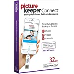 Picture Keeper CONNECT 32GB Portable Flash USB Backup and Storage Device Drive for Mobile Phones Tablets and Computers