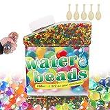 50,000 PCS Bolas de Gel de Agua, Perlas de Gel para decoración, Plantas, Flores, Mezclados cristalino Hidrogel Bolas(5...