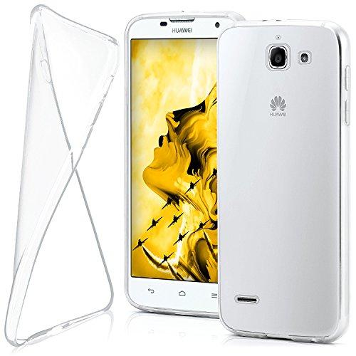 MoEx® Funda [Transparente] Compatible con Huawei Ascend G730 | Ultrafina y Antideslizante - Transparent