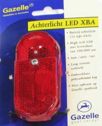 GAZELLE LED Rücklicht mit An-Aus Automatic mit Batterie - original Teil