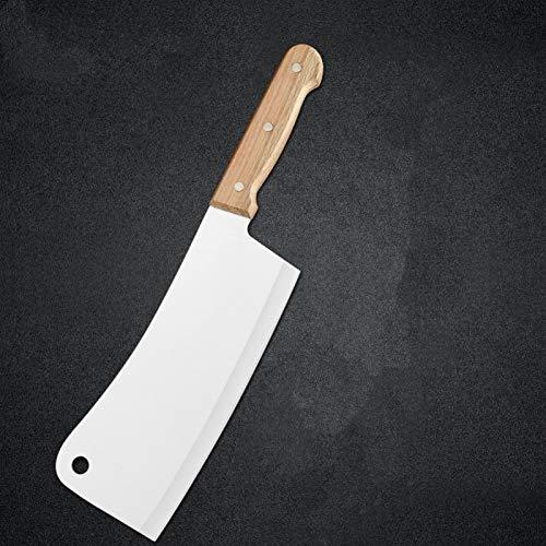 9 '' 10 '' CUCHILLO DE PIZADOR DE ACERO INOXIDABLE 3CR14 Hoja afilada Manera de madera Cuchillo Picar Butcher Cleaver Cuchillo de caza (Color : 10 INCH)