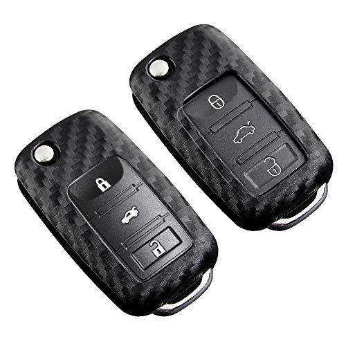 Funda protectora especial de silicona para llave de Volkswagen, compatible con VW Polo MK62 GolfR MK