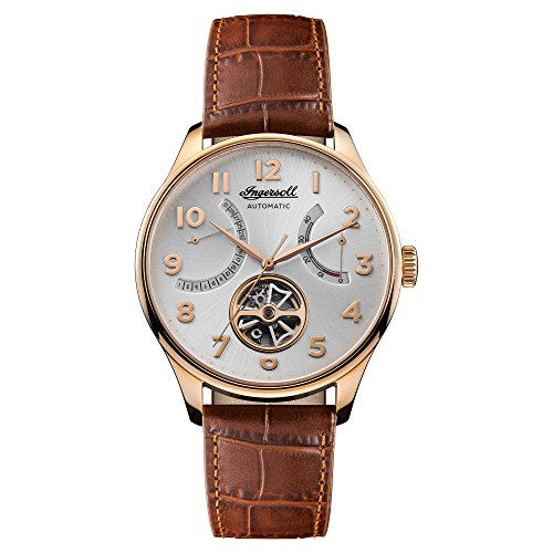 Ingersoll Mens Analogue Classic Automatic Watch with Leather Strap I04603