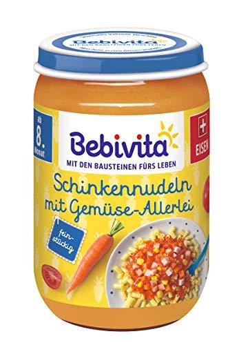 Bebivita Schinkennudeln mit Gemüse-Allerlei, 6er Pack (6 x 220 g)