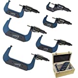 iGaging 0-6' Digital Electronic Outside Micrometer Set 0-1', 1-2', 2-3', 3-4', 4-5', 5-6' /0.00005' Large LCD Inch/Metric