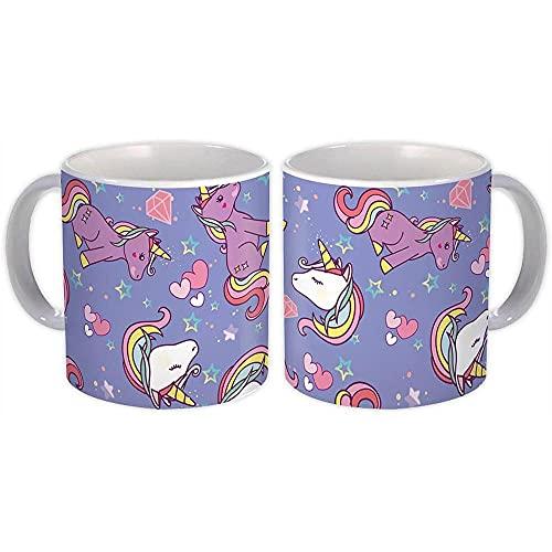 unicornio arcoiris : Regalo Jarra : Lindo caballo recién nacido ducha niños patrón Diy decoración álbum de recortes
