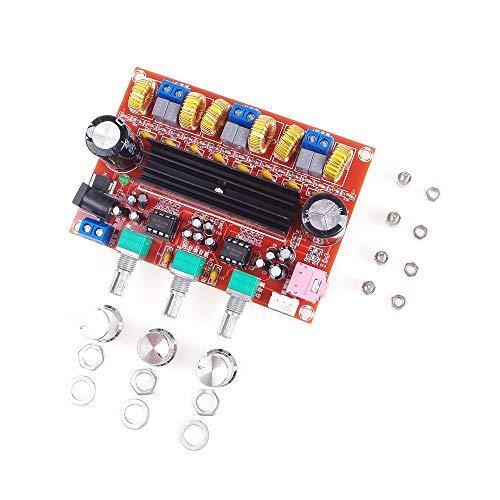 ANGEEK TPA3116D2 DC12V-24V 50W x 2 + 100W 2.1 Kanal Digital Subwoofer Audioverstärker-Brett Leistungsverstärker Brett