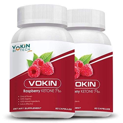 Vokin Biotech Raspberry Ketone Pro capsules with weight loss supplement and Ultimate fat burner 60 Caps (Pack of 2)