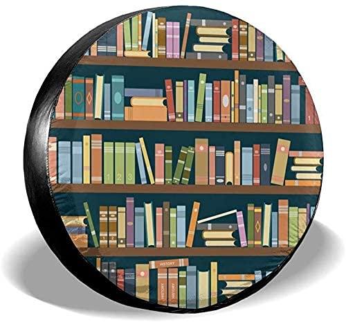 Estante de Libro de Biblioteca de Dibujos Animados Impermeable Universal Cubierta de neumático de Repuesto se Adapta a Remolque RV SUV camión Camper Accesorios de Remolque de Viaje