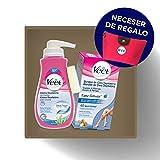 Veet Crema Depilatoria Ducha 400ml + Bandas Cera Depilatoria Cuerpo y Piernas + Neceser de Regalo