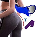 Super Kegel Exerciser,Pelvic Floor Muscle and Inner Thigh Exerciser, Hip Trainer Pelvic Floor Muscle Correction Beautiful Buttocks (Blue+Purple)…