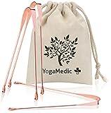 YogaMedic® Zungenreiniger BASIC [3x] 100% Kupfer gegen Mundgeruch - natürlich antimikrobieller -...