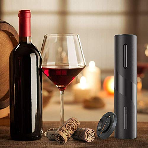 Cokunst Electric Wine Opener, Automatic Electric Wine Bottle Corkscrew Opener with Foil Cutter, One-click Button Reusable Wine Bottle Openers with LED Light for Home Kitchen Party Bar