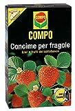 Compo de Fresa con Fertilizante de Guano, también Ideal para Kiwi, frambuesas, arándanos, grosellas y grosellas – 1 kg, 1 kg