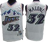 XSJY Jerseys De Baloncesto De Los Hombres - Jazz De La NBA # 32 Karl Malone Swingman Edition Malla Jersey Unisex Chaleco Sin Mangas Top Sportwear,B,XL:180~185cm/85~95kg