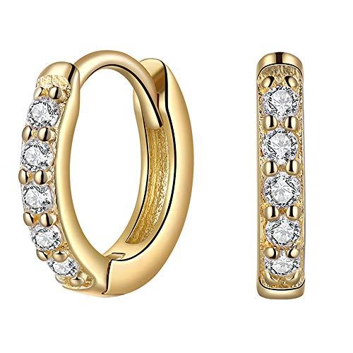 6mm Gold Hoop Earrings for Women Cartilage Earring Hoop 14k Gold Mini Tiny Small Hoop Earrings Sterling Silver Hypoallergenic Huggie Hoop Earrings Helix Earring