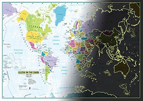 Children's World Map glow in the dark / bestel per set 5425013069939