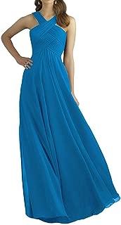 TalinaDress Women Long Chiffon Halter Bridesmaid Dress Prom Gown E211LF