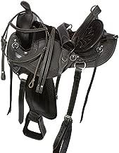 AceRugs Extreme Comfort Black Gaited Western Leather Trail Endurance Horse Saddle & Tack