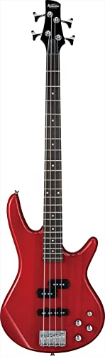 Ibanez GSR 4 String Bass Guitar, Right Handed, Transparent Red (GSR200TR)