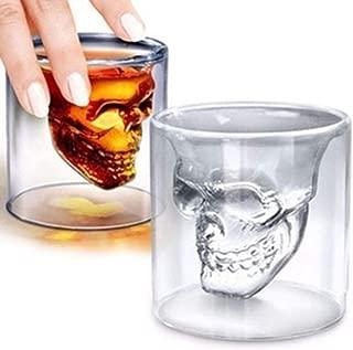 OSAYES 1pc Skull Shot Glass, Crystal Head Vodka, Skull Taza, cráneo, Copa de Vino, Whisky, Vidrio, Absinthe Glass, Heavy Metal Regalos