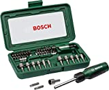 Bosch 66041612 Screwdriver bits Set (Black and Silver, 46-Pieces)
