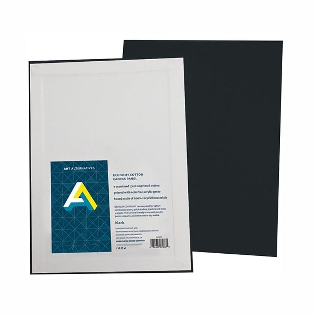 Aa Super Value Canvas Panel Black 12X16 Pk/3