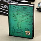 Cuadernos de redacción Diario de Cuaderno de Papel de Tapa Dura Vintage con Calendario Tapa Dura Retro Agenda Agenda Planificador Libro de Regalo Blocs y Cuadernos de Notas (Color : Green)