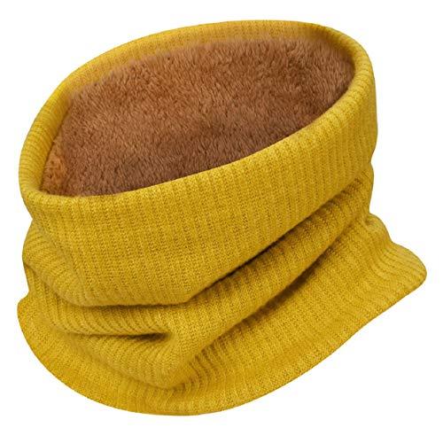 UMIPUBO Sciarpa Invernale Fodera Calda Unisex Sciarpe a Maglia Fashion Sciarpa Tubo Snood per Sport Invernali all'aperto (giallo)